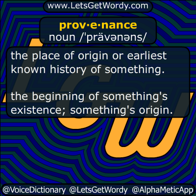 provenance 07/12/2017 GFX Definition