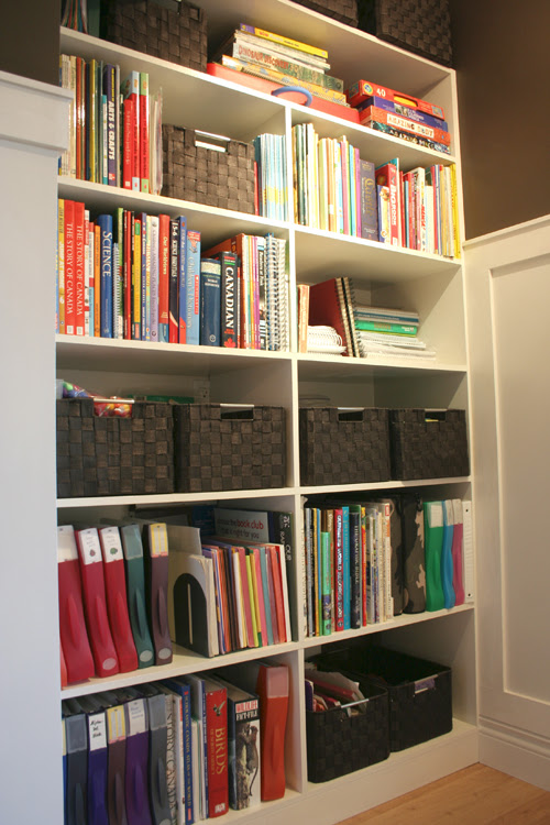 homeschool shelving