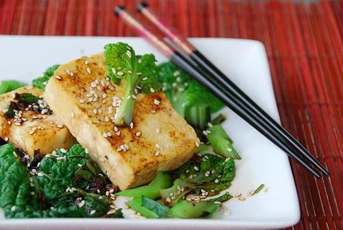 tatsoi and tofu