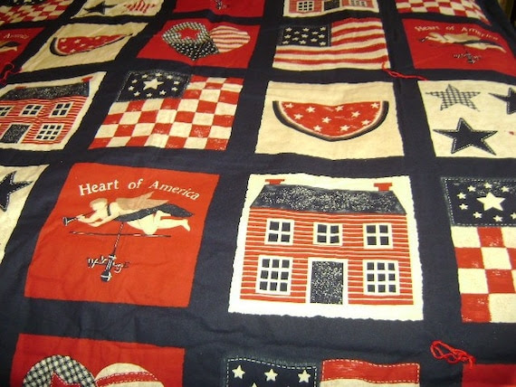 Heart of American Fabric Throw