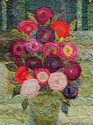 little bouquet quilt along quilted | Flickr - Photo Sharing!