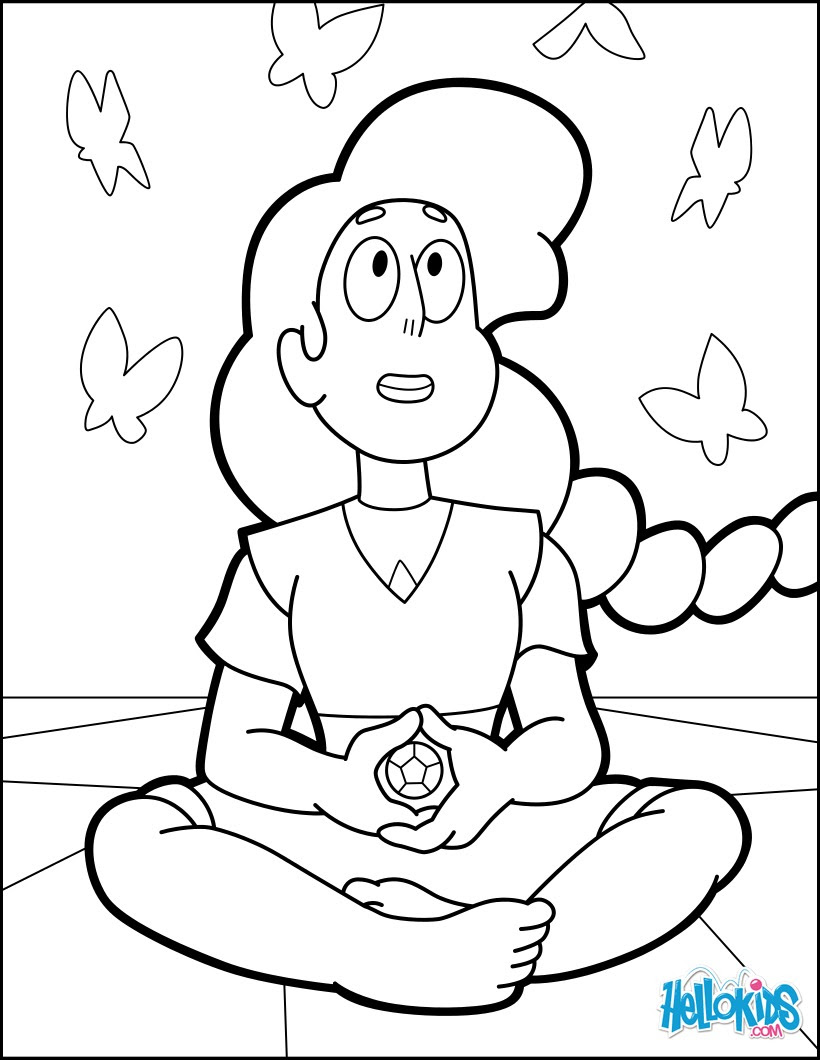 Mindful Education Stevonnie Coloring Pages Hellokidscom