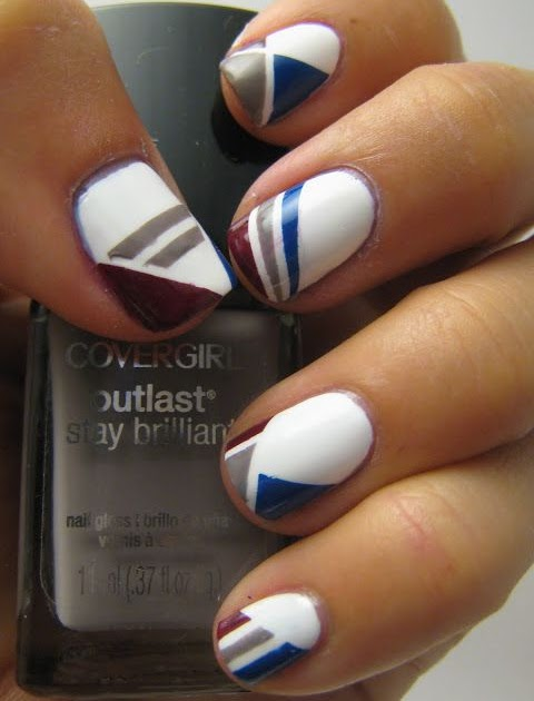 Do It Yourself Nail Designs: Do It Yourself Just Like That: Striping Tape Nail Designs