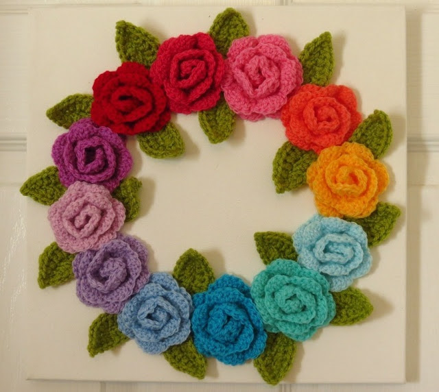crocheted wreath