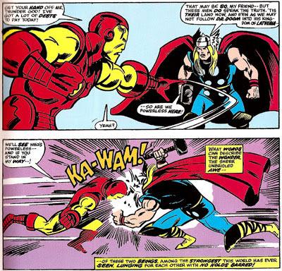 Avengers #130 panel