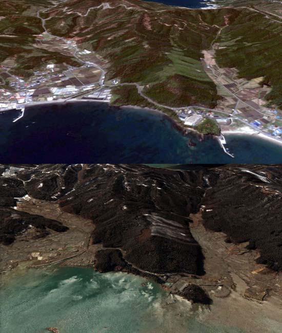 Ιαπωνία από ψηλά: Πριν και μετά το φονικό τσουνάμι (19)