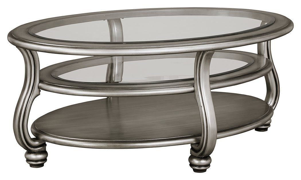 silver and glass coffee table - Home Furniture Design