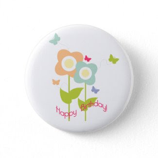 Butterfly Birthday Button zazzle_button