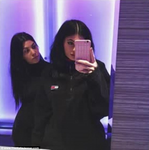 Spreading the love: Kylie Jenner shared a sweet message and video for Kourtney's birthday on her website