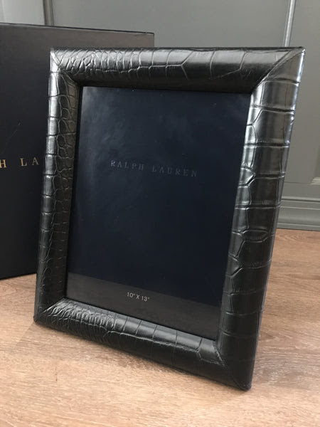 Ralph Lauren Home Bennett Leather Frame 10x13 Simons House