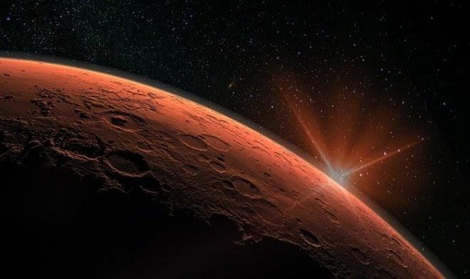 На Марсе наступил Новый год – красная планета принимает гостей