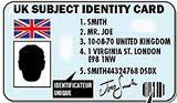 Luton fans ID card (artist's impression)