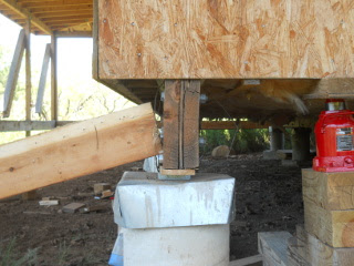 Still More Pushing Beam Vertically with Floor Jack