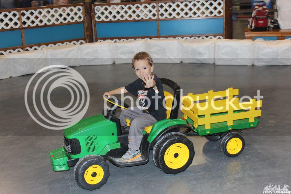 CNE Teddy rides tractor