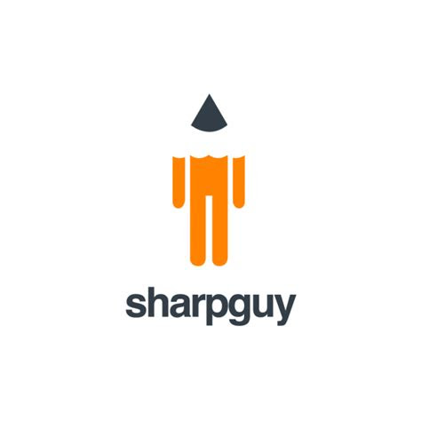 sharpguypencil logo design logo cowboy
