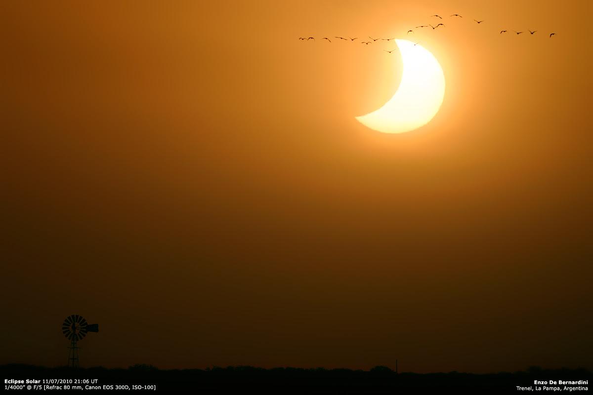 Fotos del eclipse desde distintas localidades