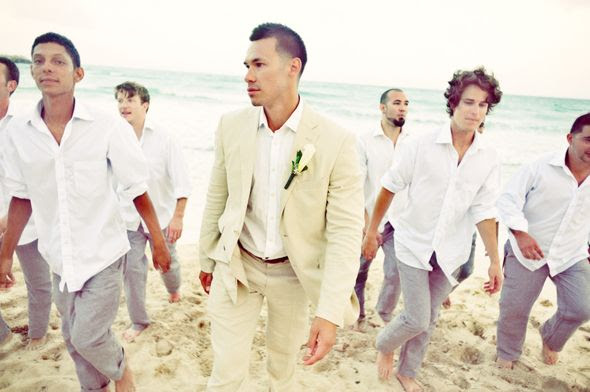 beach wedding groom and groomsmen. image by cmpdenver.com