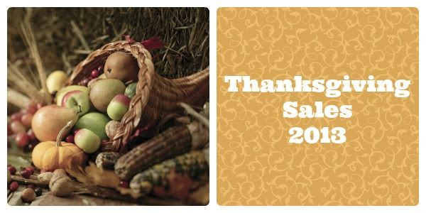 Best Thanksgiving Sales 2013 - cornucopia