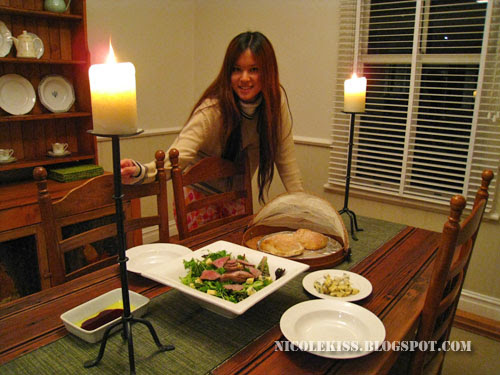 me at dinner