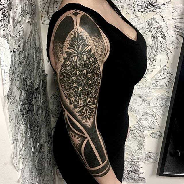 Half Tattoo Sleeve For Girl Best Tattoo Ideas Gallery