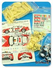 Transkit 1/24 Reji Model - Toyota Celica GT Four Marlboro Castrol - Nº 2, 4 - Roggia + Aghini, Smeets + Loix - Ypres Rally 1997 - resinas + calcas + fotograbados para kit de Tamiya TAM24133