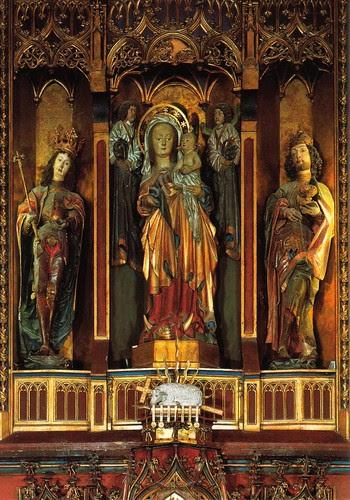 Schrein im Hochaltar, Pfarrkirche Seefeld, Tirol