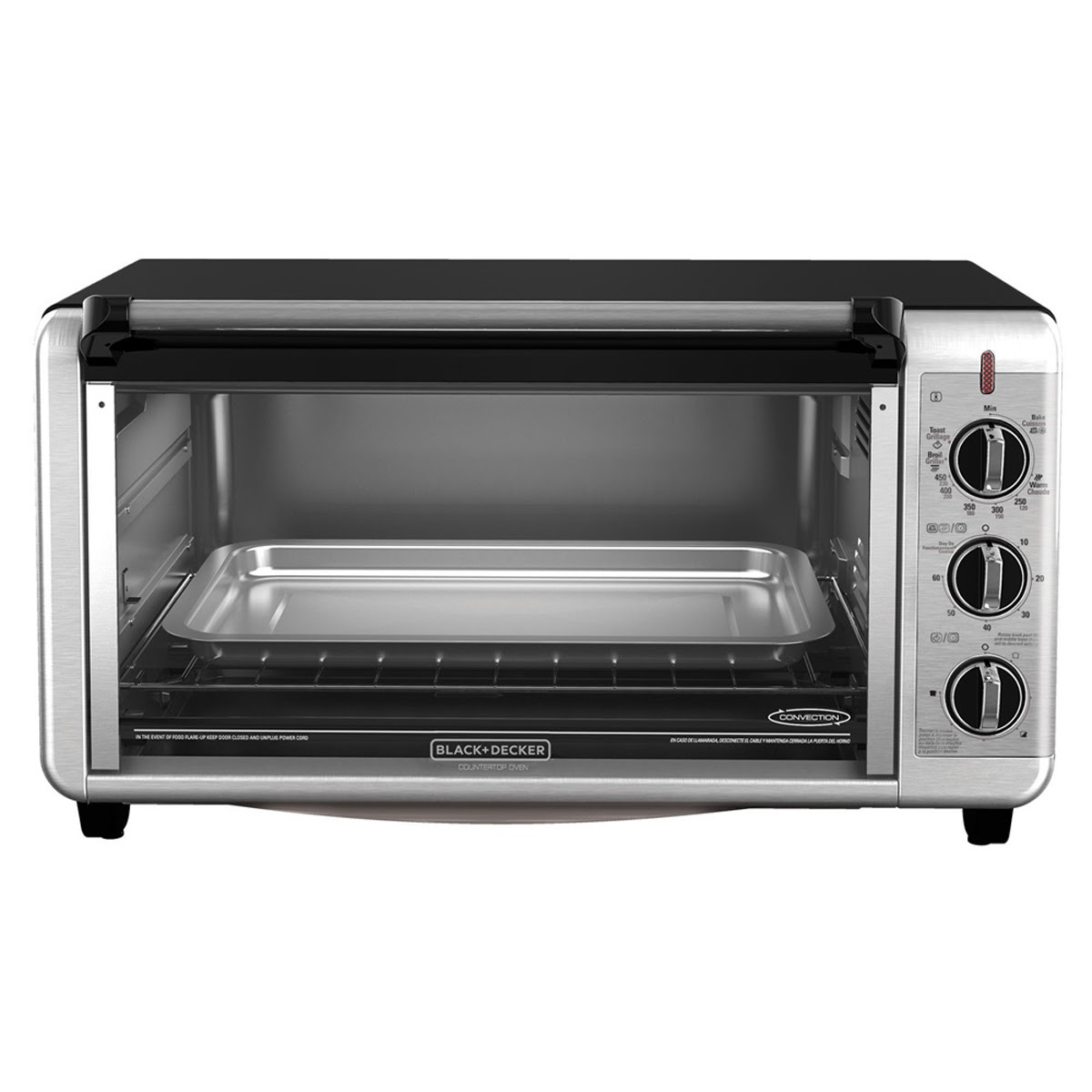 BLACK+DECKER TO3260XSBD Extra Wide Counter Toaster Oven