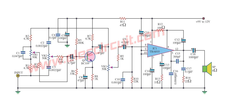 30w Stereo Power Amplifier Based Tda 1521 Circuit Diagram Watt Audio Using Tda2613 810 Streo Amplifiers Images