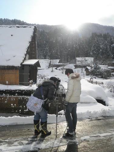 Shooting the sunrise at Shirakawa-go