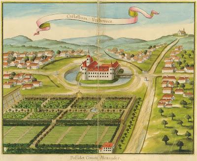 Verbovecz castle in Status familiae Patachich 1740