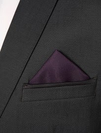 Topman Purple And Grey Pocket Square