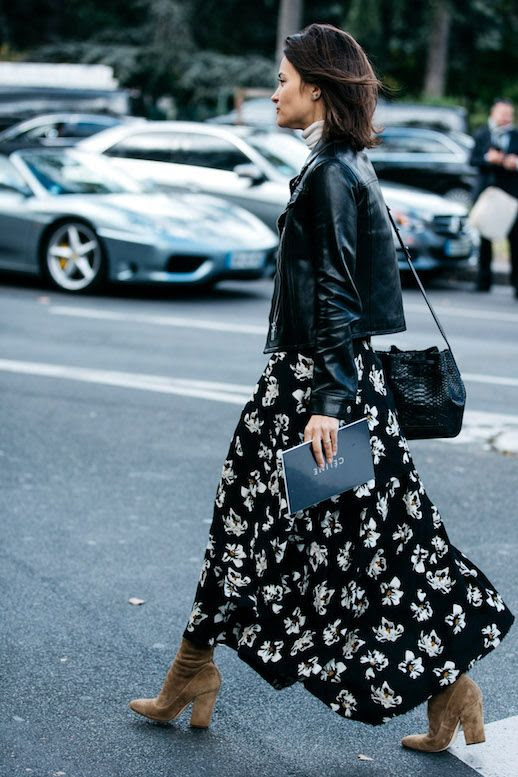 Fall Florals Floral Print Outfit Idea Street Style Maria Duenas Jacobs Sandra Semburg Le Fashion Blog