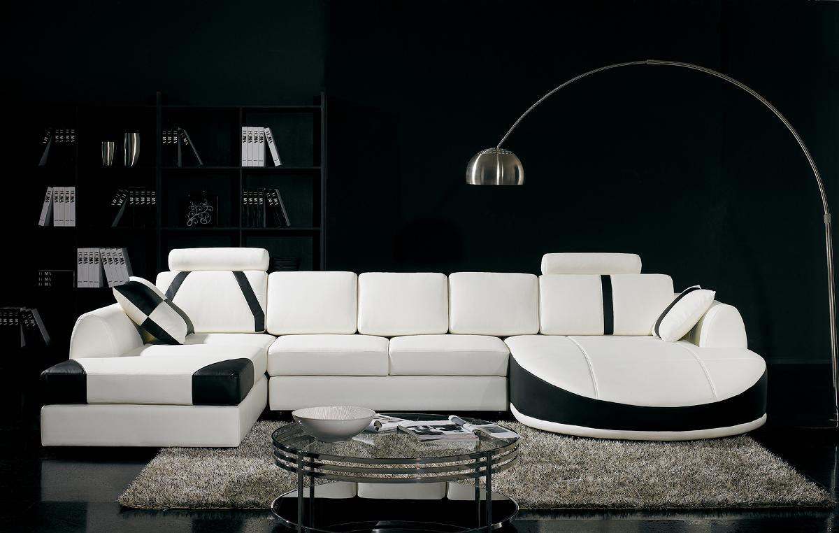 Black And White Living Room Interior Design Ideas