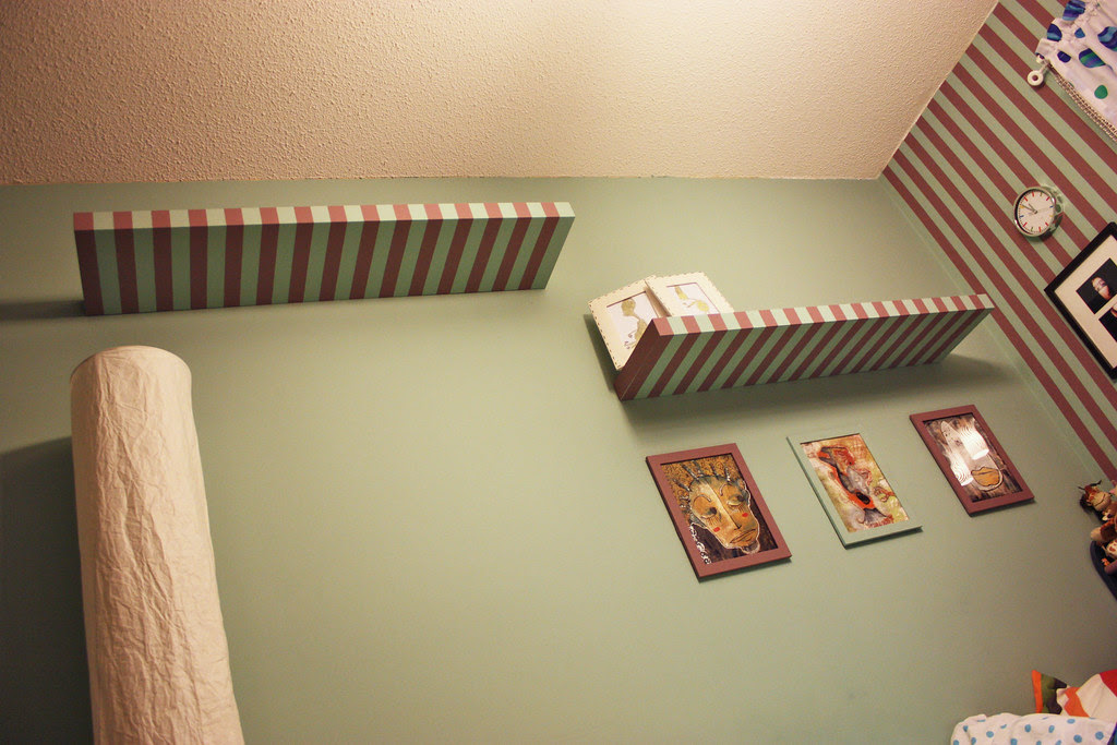 Striped Wall Shelves