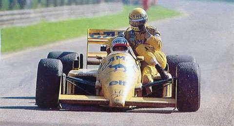 GP da Itália de 1987: o japonês Satoru Nakajima e o brasileiro Ayrton Senna