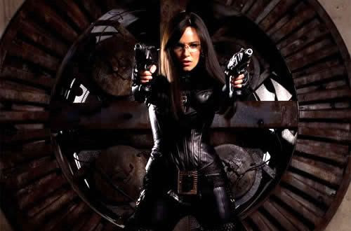 Sienna Miller as The Baroness in G.I. JOE: THE RISE OF COBRA.