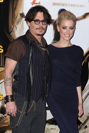 Johnny Depp e Amber Heard (Foto: Agência Getty Images)