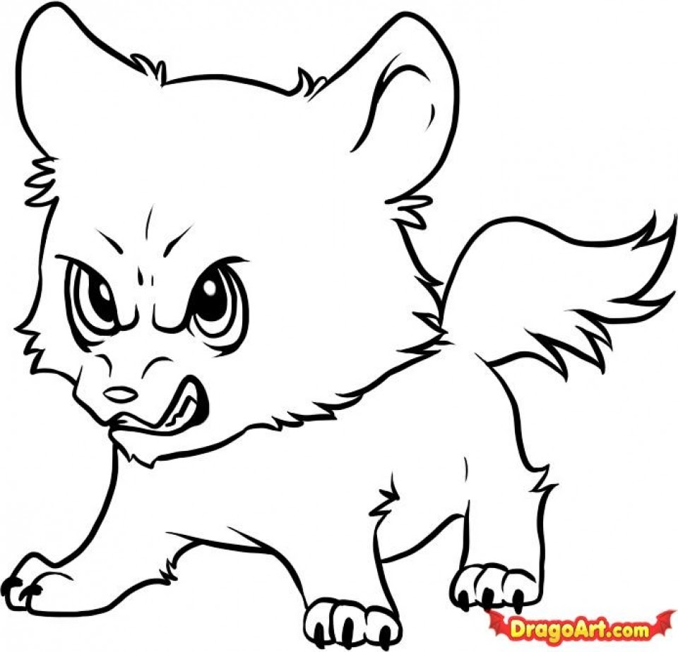 Get This Cute Wolf Coloring Pages 72218