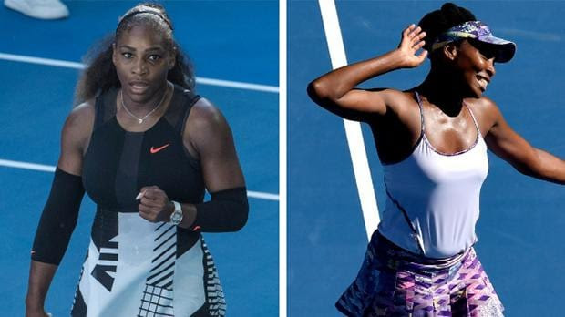 Image result for Venus and Serena 2017 Australian open