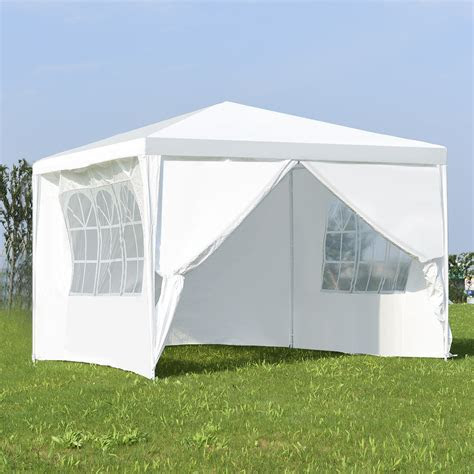 Costway Canopy Party Wedding Event Tent 10'x10' Heavy Duty