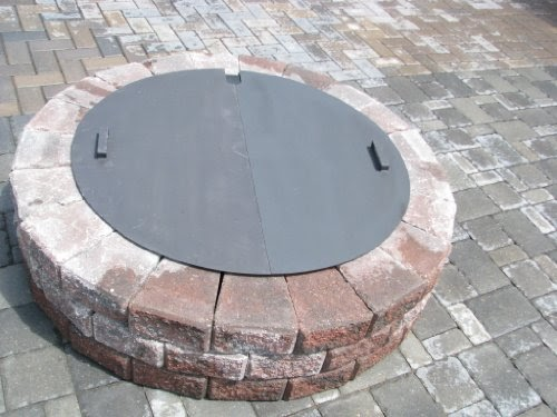Special Discount Round Steel Fire Pit Cover Snuffer