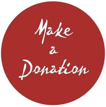 Button - Donation Red & White cursive