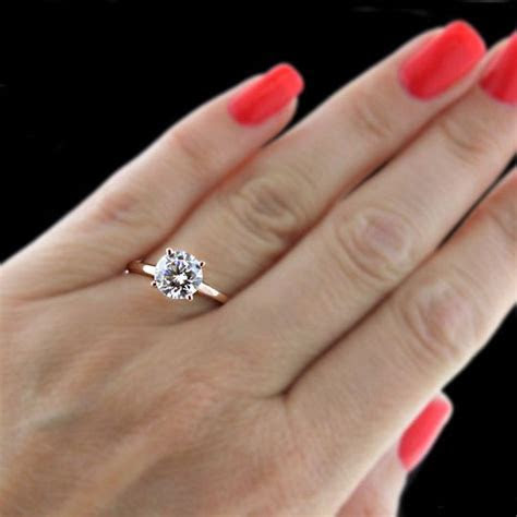 Traditional Solitaire Engagement Ring   Rose gold