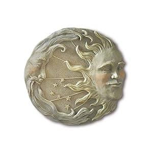 Amazon.com: Gifts & Decor Celestial Sun Moon Star Wall Plaque ...