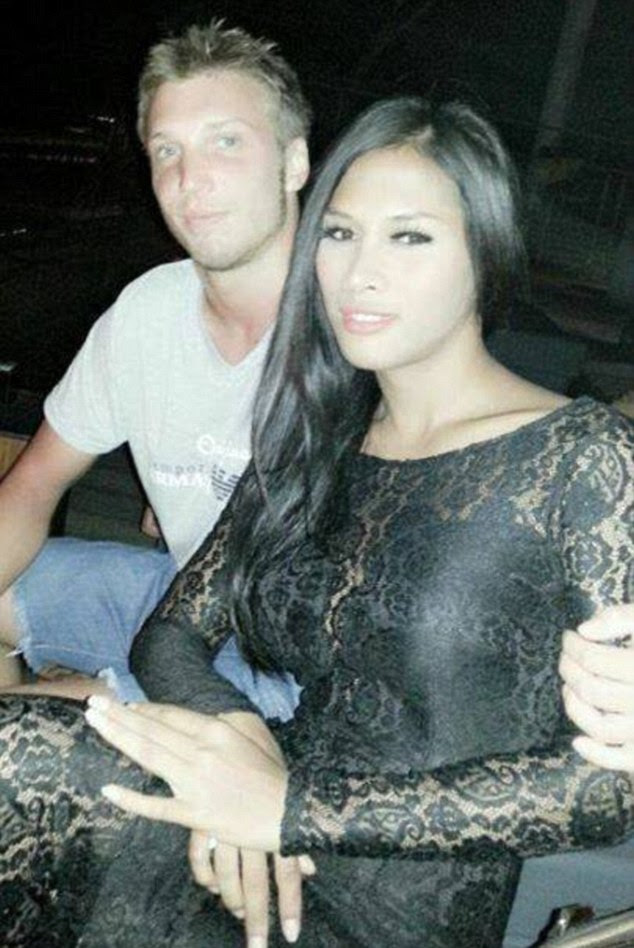 Marcus Volke with his wife, Mayang Prasetyo who once advertised herself as a transsexual high-class escort