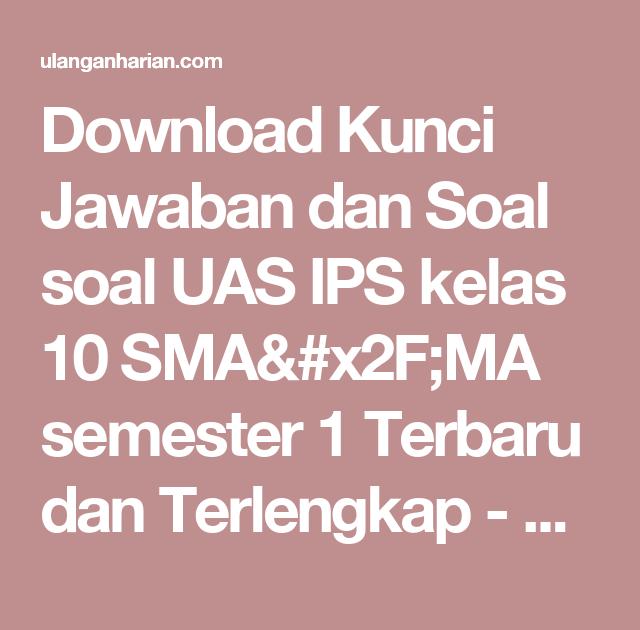 Download Soal Dan Kunci Jawaban Soal Ips