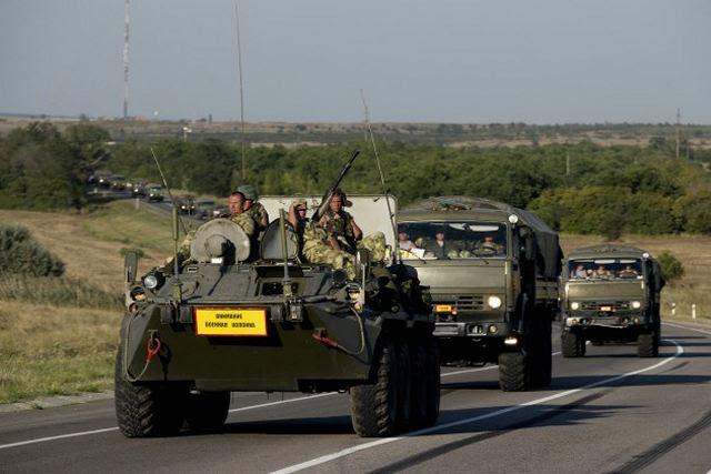 Según un comunicado de la página web de la OTAN, Viernes, agosto 22,2014, ejército ruso se ha desplazado unidades de artillería tripulados por personal ruso en territorio de Ucrania en los últimos días y fue usarlos para disparar a las fuerzas ucranianas.