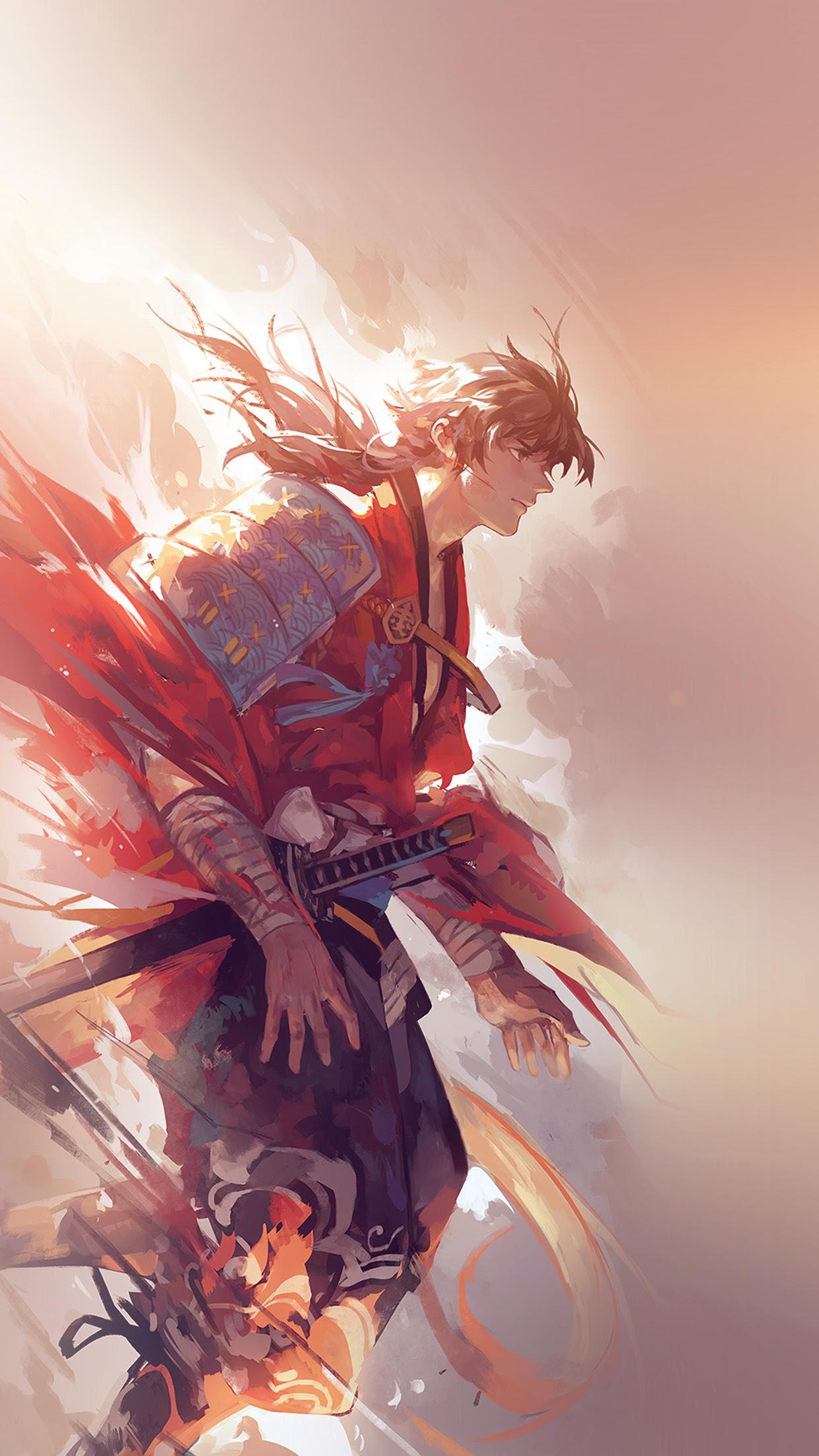 aw64-hanyijie-hero-red-handsomeillustration-art-anime ...