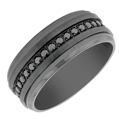 15 Collection of Men's Cubic Zirconia Wedding Bands