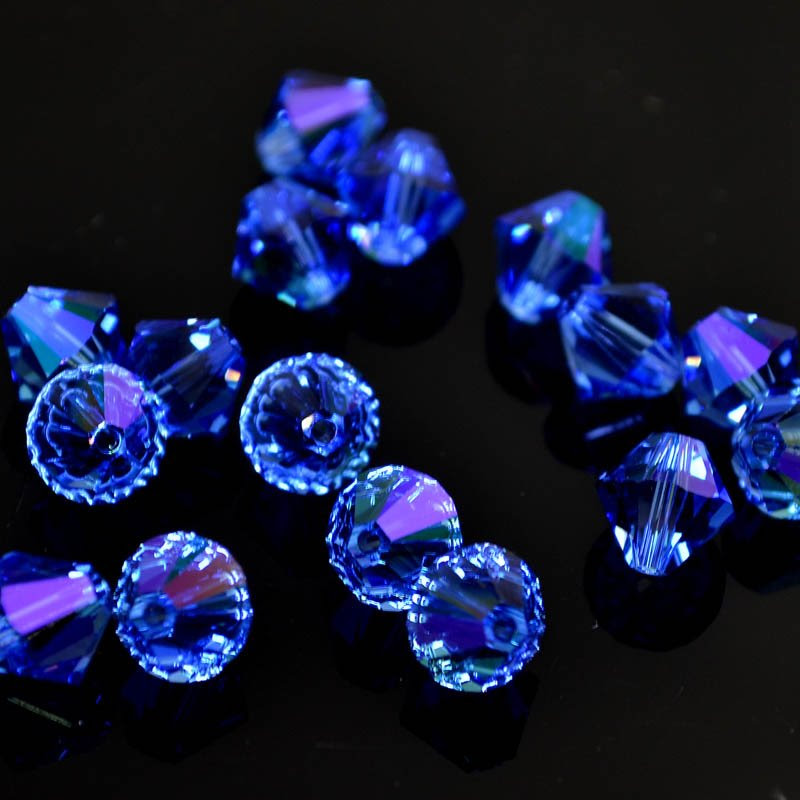 2775301s41263 Swarovski Elements Bead - 8 mm Faceted Xilion Bicone (5328) - Sapphire Glacier Blue (1)